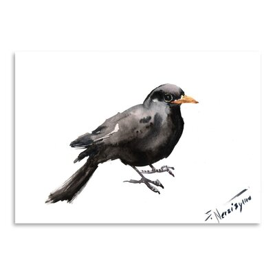 Americanflat 'Blackbird 2' by Suren Nersisyan Painting Print on Wrapped Canvas