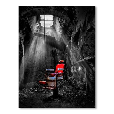Americanflat 'Red Chair' by Lina Kremsdorf Photographic Print Wrapped on Canvas