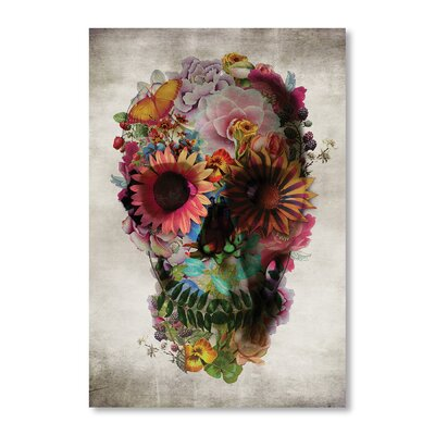 Americanflat 'Skull II' by Ali Gulec Graphic Art on Wrapped Canvas