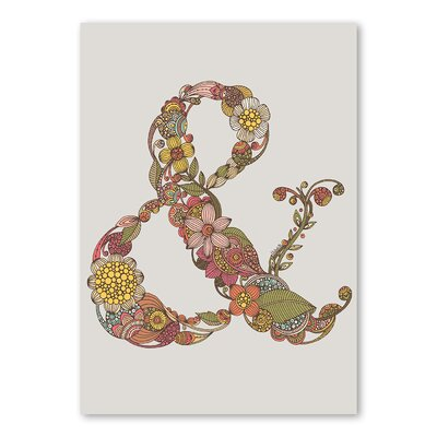 Americanflat 'Ampersand' by Valentina Ramos Graphic Art on Wrapped Canvas