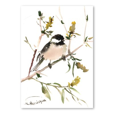 Americanflat 'Chickadee II' by Suren Nersisyan Painting Print on Wrapped Canvas
