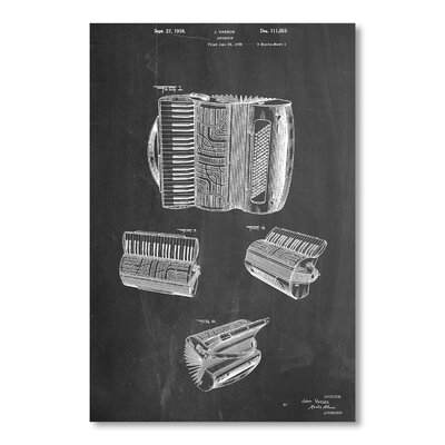 Americanflat 'Accordion' by House of Borders Graphic Art on Wrapped Canvas