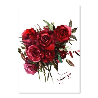 Americanflat 'Deep Roses' by Suren Nersisyan Painting Print on Wrapped Canvas