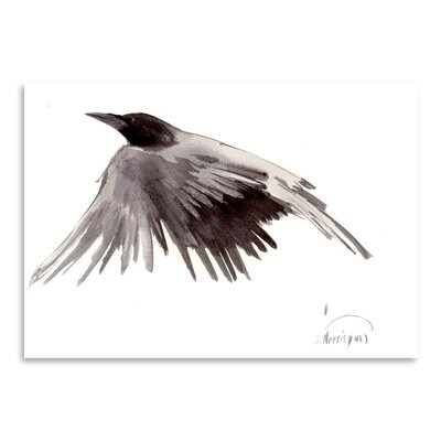 Americanflat 'Flying Raven' by Suren Nersisyan Painting Print on Wrapped Canvas