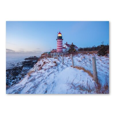 Americanflat 'Light House Snow' by Lina Kremsdorf Photographic Print on Wrapped Canvas