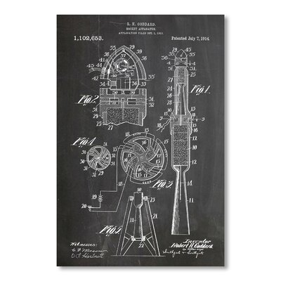 Americanflat 'Rocket' by House of Borders Graphic Art on Wrapped Canvas