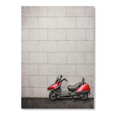 Americanflat Bike Red Photographic Print on Wrapped Canvas