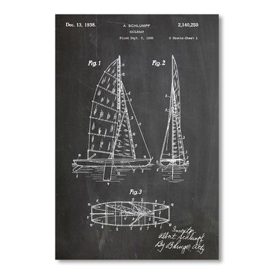 Americanflat 'Sailboat' by House of Borders Graphic Art on Wrapped Canvas