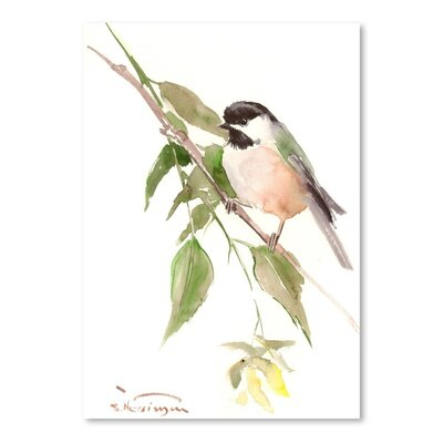 Americanflat 'Chickadee 2' by Suren Nersisyan Painting Print on Wrapped Canvas