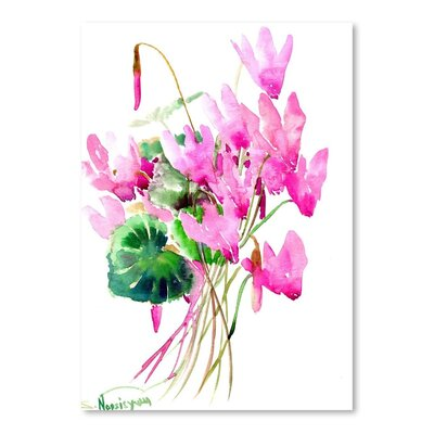 Americanflat 'Cyclamens' by Suren Nersisyan Painting Print on Wrapped Canvas