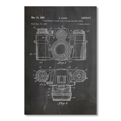 Americanflat 'Camera Photo' by House of Borders Graphic Art on Wrapped Canvas