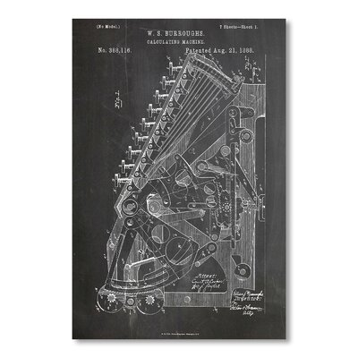 Americanflat 'Calculator' by House of Borders Graphic Art on Wrapped Canvas