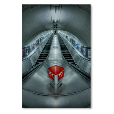 Americanflat 'Stop Escalator' by Lina Kremsdorf Photographic Print on Wrapped Canvas