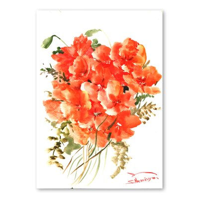 Americanflat 'Flowers II' by Suren Nersisyan Painting Print on Wrapped Canvas