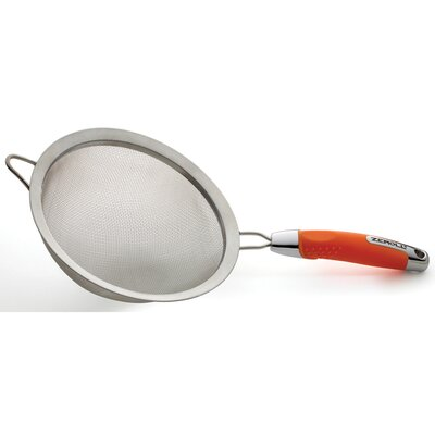 """Ussentials Stainless Steel Strainer Color: Sunset Orange, Size: 4"""" H x 16"""" W x 8"""" D"""