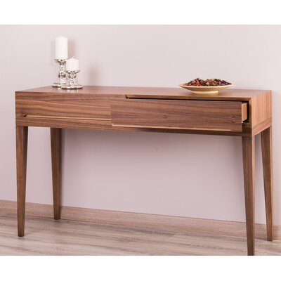 Ariah Walnut Console Table