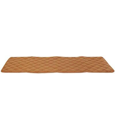 "Diamond Bed Cover Size: 30"" L x 97"" W, Color: Saddle"