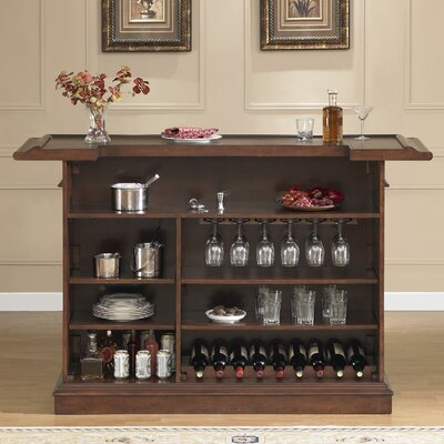 Valore Bar with Wine Storage Color: Brown