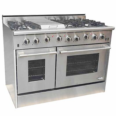 "48"" Free-standing Gas Range with Griddle"