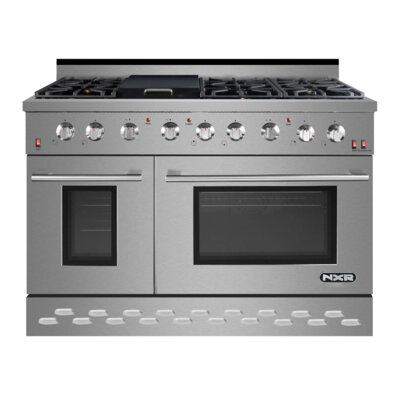 """48"""" Free-standing Gas Range with Griddle"""