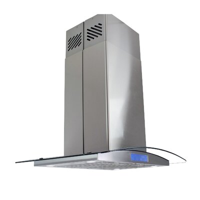 "36"" 343 CFM Convertible Island Range Hood Finish: Stainless Steel"