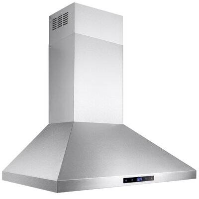 "30"" 400 CFM Ductless Wall Mount Range Hood"