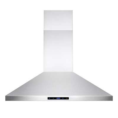 "36"" 400 CFM Ductless Wall Mount Range Hood"
