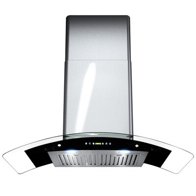 "36"" 400 CFM Convertible Wall Mount Range Hood Finish: Silver"