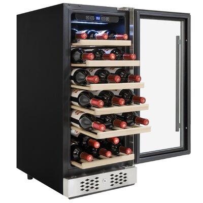 30 Bottle Compressor Single Zone Freestanding Wine Cooler