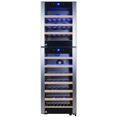 53 Bottle Dual Zone Freestanding Wine Cooler