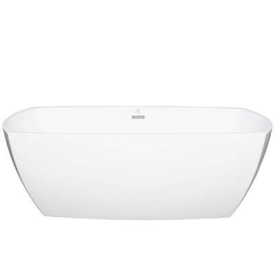 "Acrylic Oval 69"" x 29.5 Freestanding Soaking Bathtub"