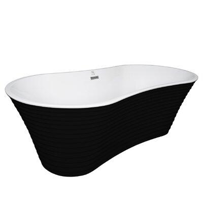 "Acrylic Spa 66.5"" x 33.5"" Freestanding Soaking Bathtub"