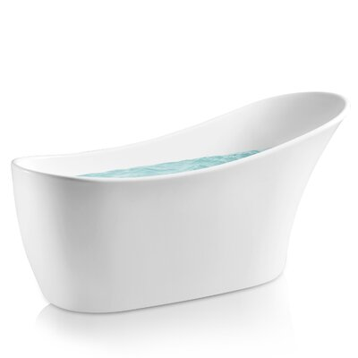 "64"" x 24"" Freestanding Soaking Bathtub"