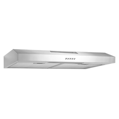 "58 CFM Convertible Under Cabinet Range Hood Finish: White, Size: 4"" H x 35.25"" W x 17.75"" D"
