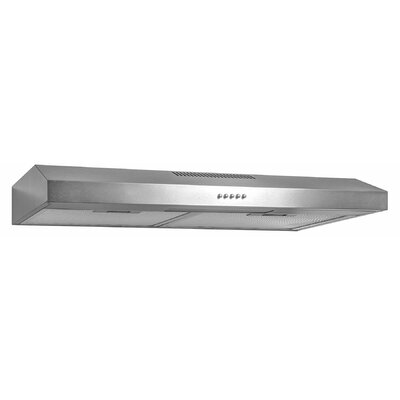 "58 CFM Convertible Under Cabinet Range Hood Finish: Brushed, Size: 4"" H x 35.25"" W x 17.75"" D"