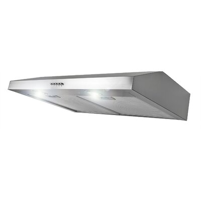 "30"" 250 CFM Convertible Under Cabinet Range Hood Finish: Silver"