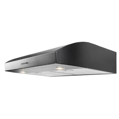 "30"" 250 CFM Convertible Under Cabinet Range Hood Finish: Black"