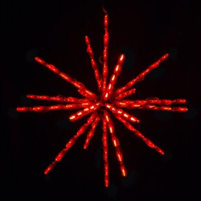 """Starburst LED Light Size: 24"""", Color: Red"""