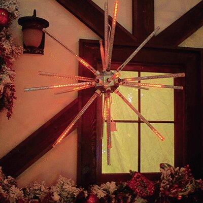"24"" Animated Starburst LED Light Color: Red"