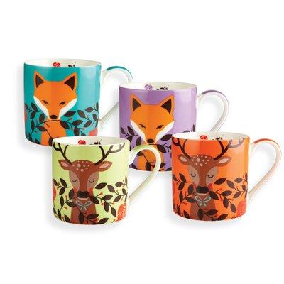 Fairmont and Main Ltd 4 Piece Woodland Fox and Reindeer Mug Set