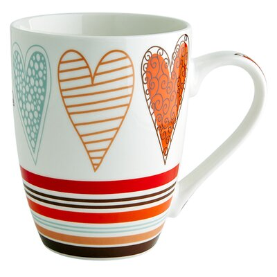 Fairmont and Main Ltd Hearts Stripe Mug