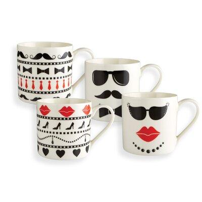 Fairmont and Main Ltd 4 Piece Mr. and Mrs. Mug Set