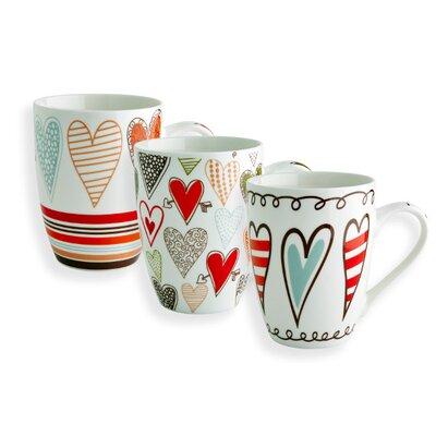 Fairmont and Main Ltd 3 Piece Hearts Mug Set