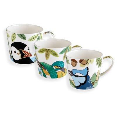 Fairmont and Main Ltd 3 Piece Tropical Bird Mug Set