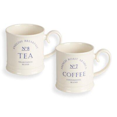 Fairmont and Main Ltd Grocer 4 Piece Tea and Coffee Tankard Mug