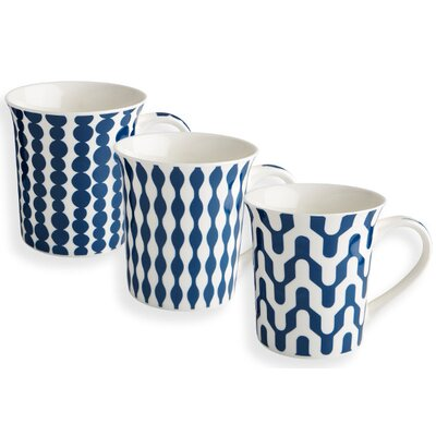 Fairmont and Main Ltd 3 Piece Geo Mug Set