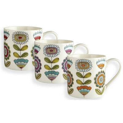 Fairmont and Main Ltd 3 Piece Retro Flower Mug Set