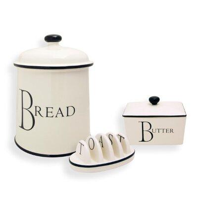 Fairmont and Main Ltd Script Kitchen 3 Piece Storage Bread Set