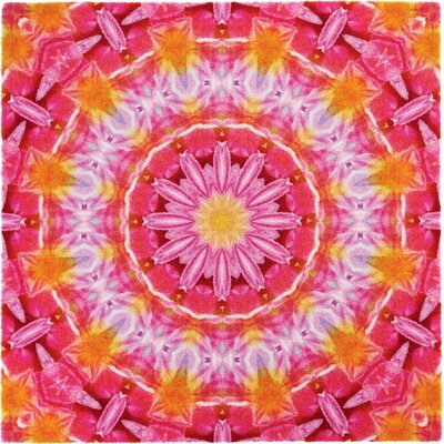 Grund Mandala Tenderness Pink Area Rug