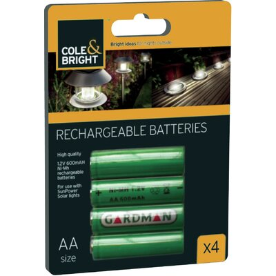 Cole and Bright AA Ni-Mh Rechargeable Batterie
